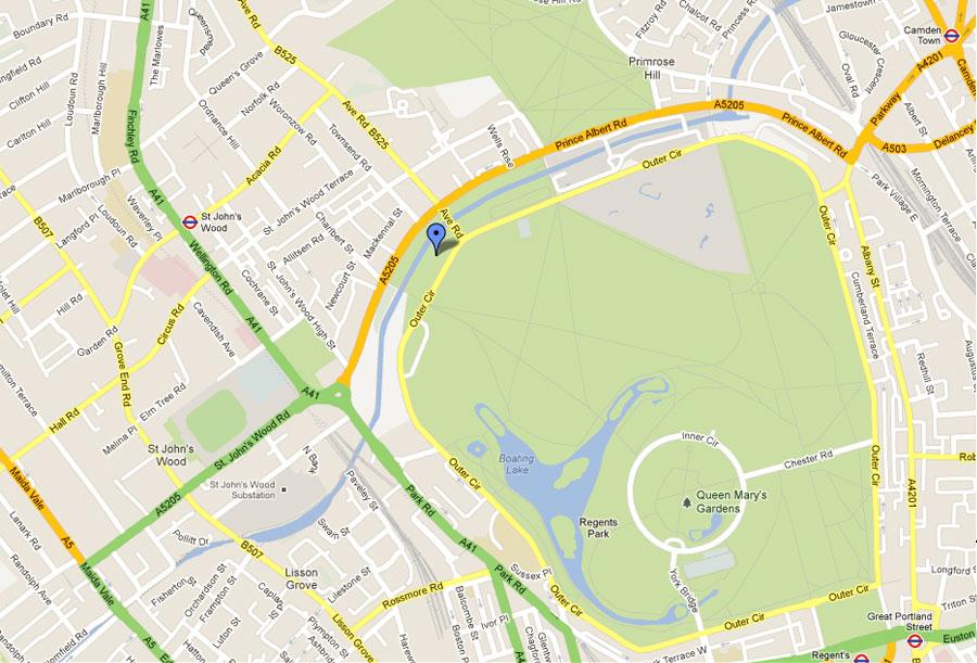 Regents Park Location